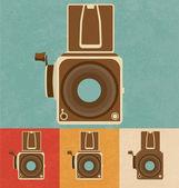 Retro Icons - Camera — Stock Vector
