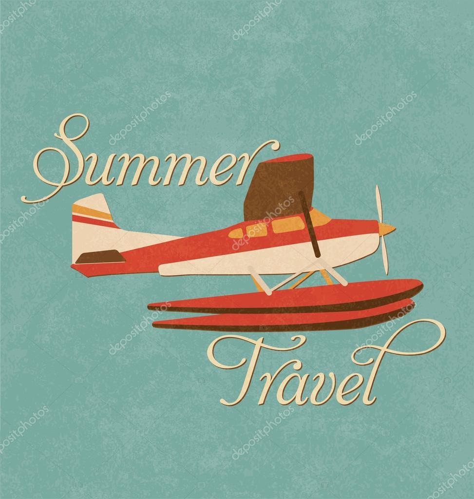 夏季旅行设计-复古飞机