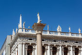 View of the st. todaro statue in San Marco place Venice — Stok fotoğraf