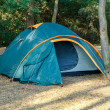 Stock Photo: Camping Tents at Campground during Daytime in Woods