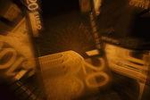 Grunge euro bakgrund — Stockfoto
