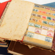 Philatelic stamp collection albums — Photo