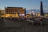 Night on the sandy beach in Italy — Stock Photo