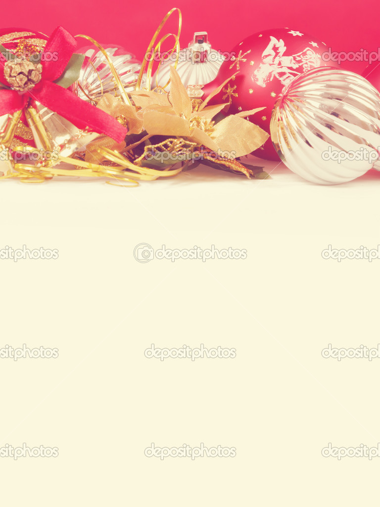 Red christmas background with space for text  Stock Photo #15434615