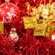 Red christmas balls and decorations — Stock Photo #15763131