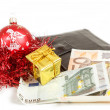 Royalty-Free Stock Photo: Wallet with euro for purchase of christmas gifts