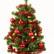Royalty-Free Stock Photo: Decorated christmas tree on white background