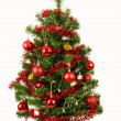 Decorated christmas tree on white background — Stock Photo #15763157