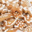 Christmas gingerbreads on white background — Stock Photo
