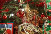Christmas Tree and Christmas gift boxes — Stock Photo
