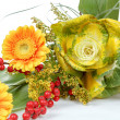 Fresh bouquet from orange gerbers — Stock Photo