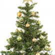 Stock Photo: Christmas tree with snowflakes and balls