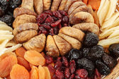 Close up of various dried exotic fruits — Stock Photo