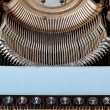 Retro typewriter close up with number keys — 图库照片