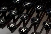 Dettaglio dei tasti sul retro typewritter — Foto Stock