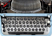 Retro typewriter close up with detail of keys — Stock Photo
