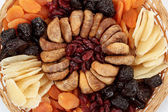Close up of various dried exotic fruits — Foto de Stock