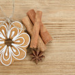 Gingerbread cookies with star anise and cinnamon — Stock Photo