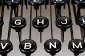 Detail of keys on retro typewriter — Stock Photo