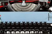 Machine à écrire rétro bouchent avec touches numériques — Photo