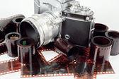 Color y réflex analógicas vintage negativo películas — Foto de Stock