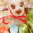 Royalty-Free Stock Photo: Easter lamb with painted eggs