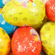 Close up of easter chocolate eggs — Foto de stock #23196118