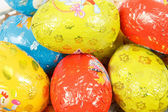 Close up of easter chocolate eggs — Stock Photo
