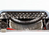 Retro typewriter close up with detail of keys — Stock Photo