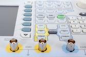 Keyboard of professional modern test equipment - analyzer — Stock Photo