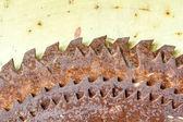 Old rusted circular saw blades — Stock Photo