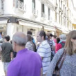 Crowd of tourist near Grand Canal on July 16, 2012 in Venice — Stock Video