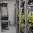 Stock Video: Datacenter with high speed communication techmology and fiber optic converters