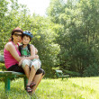 Mother and her son outdoor — Stock Photo