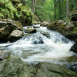 Mountain creek doubrava slow shutter speed — Stock Photo