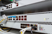 Technology center with fiber optic PON equipment — Stock Photo