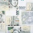 Stock Photo: Czech banknotes crowns background