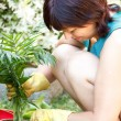 Happy middle age womgardening — Stock Photo #36316949