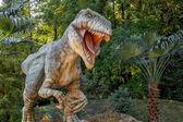 Model of big tyranosaurus rex jungle — Stock Photo