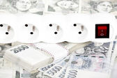Money concept of expensive energy bill — Stock Photo