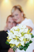 Beautiful young wedding couple — Stock Photo