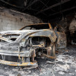 Close up photo of a burned out car — Stock Photo #36885033