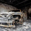Close up photo of a burned out car — Stock Photo