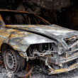 Close up photo of a burned out car — Stock Photo #36885043