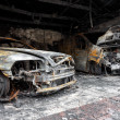 Close up photo of a burned out cars — Stock Photo #36885059