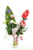 Fresh bouquet from pimk gerbers — Stock Photo