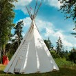 Indian tepee against blue sky — Stock Photo