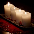 Burning candles — Stock Photo