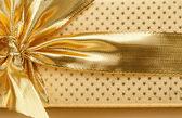 Detail of golden ribbon — Stock Photo