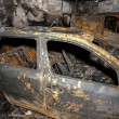 Close up photo of a burned out cars — Stock Photo #40594273